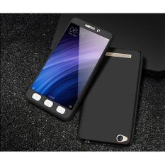 Hardcase Case 360 Xiaomi Redmi 4A Fullset Casing Free Tempered Glass - BLACK
