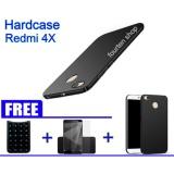 Spek Hardcase Casing Cover Hp Xiaomi Redmi 4X Free Stand Houlder Gurita Tempered Glass Redmi 4X Softcase Black Matte Redmi 4X