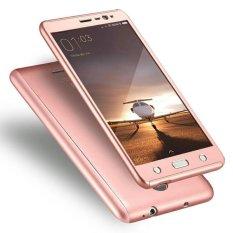 Harga Hardcase Casing Full Body 360 Free Tempered Glass Xiaomi Redmi Note 4 4X Mediatek Rose Gold New