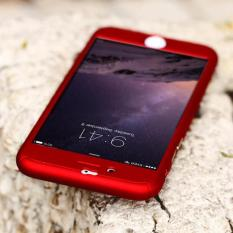 Hardcase Casing Full BodyNU0403 360 iPhone 5/5S/5SE Free Tempered Glass (Merah) -