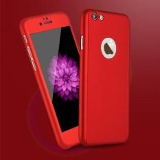 ... Hardcase fullbody 360 Iphone 5 Fullset Free Tempered Glass MERAH