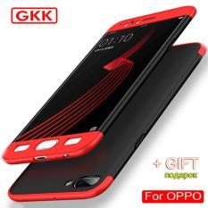 Hardcase GKK 360 For Oppo F3Full Cover Shockproof Casing Handphone Polikarbonat - Merah Hitam