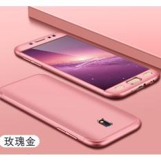 Hardcase GKK 360 For Samsung J7 Pro 2017Full Cover Shockproof Casing Handphone Polikarbonat - Rose Gold