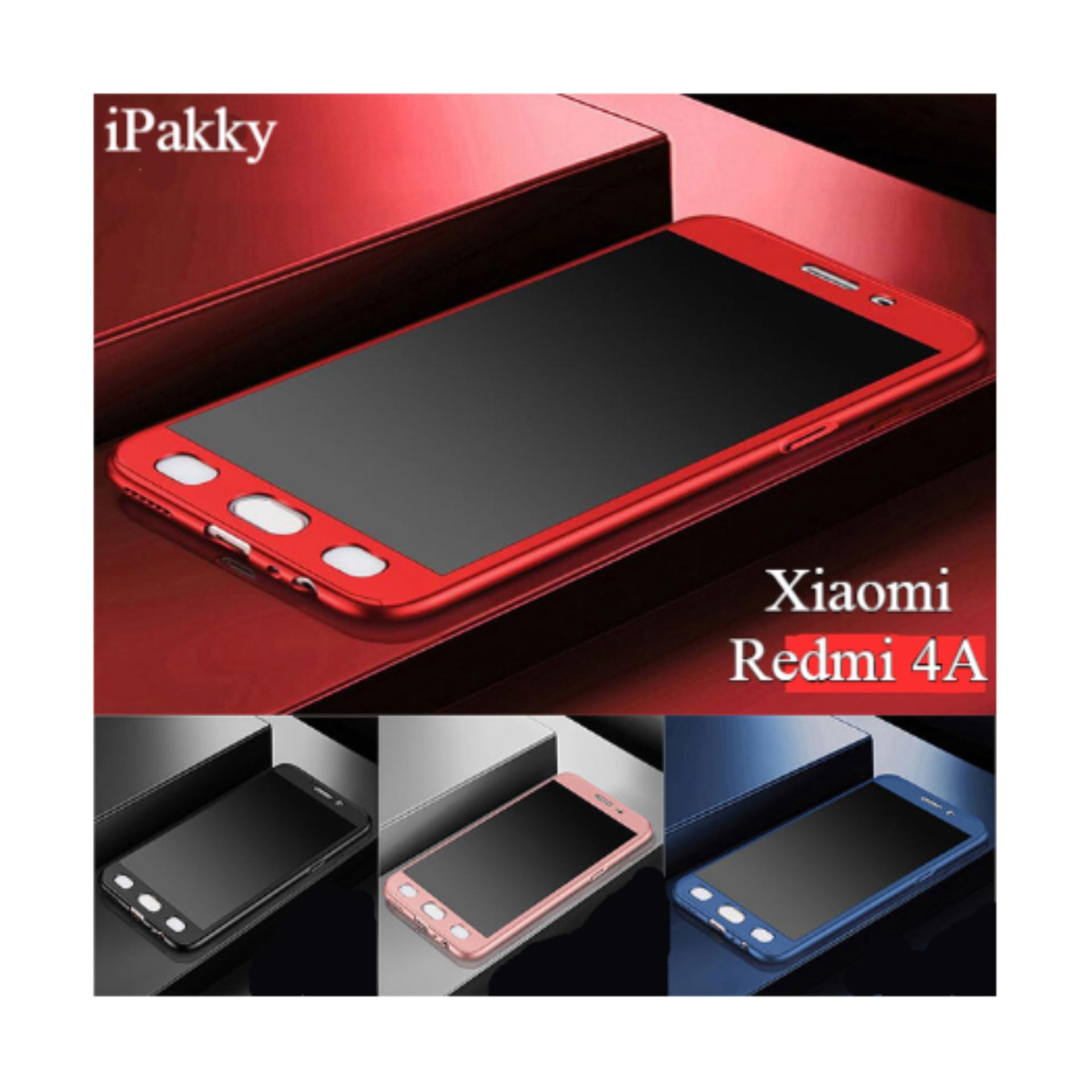 Jual Hardcase Ipaky Case Full Protection 360 Xiaomi Redmi 4A And Tempered Glass Gold Black Red Blue And Rose Gold Abs Satu Set