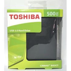 HARDISK EKSTERNAL 500GB TOSHIBA CANVIO USB 3.0