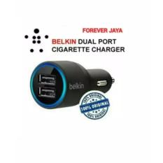 HARGA PROMO Car Charger Original Belkin 2 Port Buat Iphone,Xiaomi,Samsung