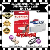 Toshiba Flash Disk Usb 3 32Gb High Speed Superspeed Waterproof White Gratis Usb Otg Reader Android Kabel Charger Micro Android Toshiba Diskon