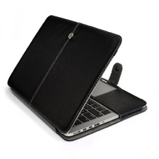 HASESS 13 Inch Laptop Case Cover Premium Kualitas Bisnis PULeather Hard Shell Pelindung Cover Shell untuk MacBook Pro 13.3