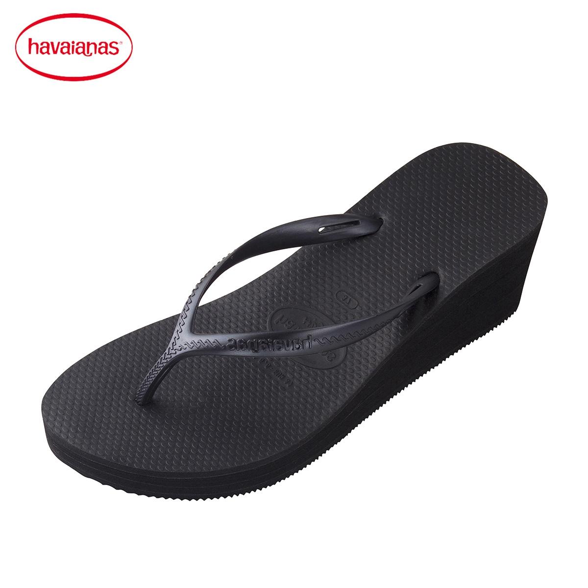 Havaianas Lereng Tebal-Bawah With Sandal Jepit/Warna Polos (Hitam) (Hitam)