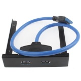 Toko Haweel Usb 3 Front Panel Floppy Disk Bay 20 Pin 2 Port Hub Bracket Kabel Hitam Di Tiongkok
