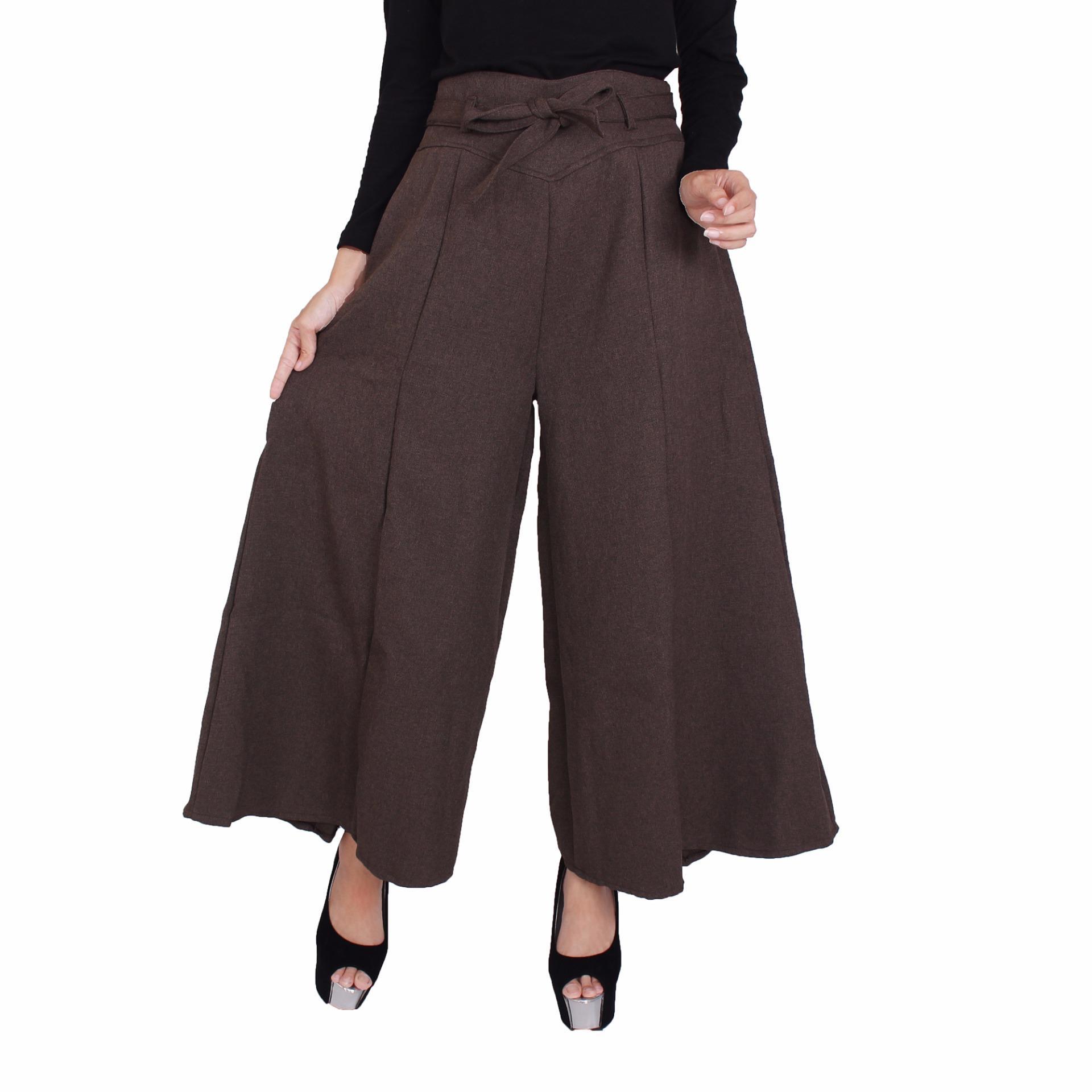 Spesifikasi Haymeestore Celana Kulot Kantor Panjang Wanita Celana Cullot Kantor Wanita Kantor Casual Fashion Merk Haymee