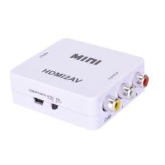 HD 1080 P HDMI TO AV/RCA CVBS Adaptor Mini HDMI2AV Video Converter Kotak Putih-Intl
