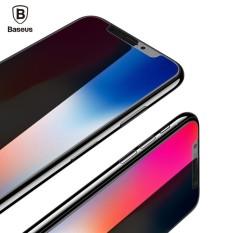 (HD) BASEUS untuk iPhone X Lembut Sisi Sarung Penuh 3D 0.23 MM Layar Pelindung Peliharaan Kaca Temper Toughened Kaca Pelindung Film untuk iPhone 10-Internasional