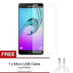 [HD] untuk Samsung Galaxy A3 2016 (A310F) Tempered Glass Screen Protector untuk + FREE Micro USB Kabel