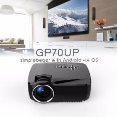 HD Gp70up Android 4.4 Mini LED Proyektor dengan Google Bermain Diperbarui Oleh Gp70 1g/8g Bluetooth WIFI TV Beamer (hitam) -Intl