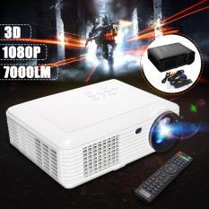 HD Penuh 1080 P 5000 Lumen 3D LED Proyektor Bioskop Rumah Multimedia HDMI-Internasional