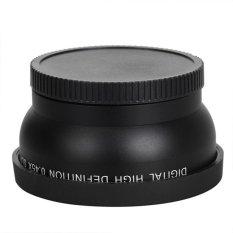 HDL 58mm 0.45X Wide Angle Lensa untuk Canon EOS 1000D 1100D 500D Rebel T1iT2i T3i (Hitam)