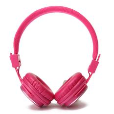 HDL Wireless Over-Ear Headphone Stereo Olahraga Bluetooth Earphone dengan MIC (Pink)