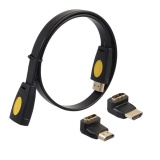 Harga Hemat Hdmi 2160P 4Kx2K Hd Male To Female Cable With 90 270 Adapter 5M 1 64Ft Black Intl
