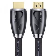 Kabel HDMI 85 Kaki Oleh MINC-Built-in Signal Booster-24AWG, CL3-Mendukung 4 K 3D dan ARC dengan Ethernet-24 K Gold Plated CONNECTOR dan Quality Braided Cord -Intl