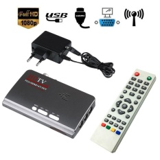 HDMI HD 1080 P VGA DVB-T2 TV Box VGA AV CVBS Tuner Receiver dengan Remote Control-Intl