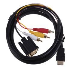Jual Hdmi Hdtv For Vga 3 Kabel Rca Dari Adaptor Konverter 1080 P 1 5 M Antik