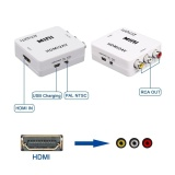 Hdmi To Av 3Rca Cvbs Video Komposit Audio Converter 1080 P 720 P 460 P Menghubungkan Hdmi Ps4 Xbox 360 Apple Tv Box Blu Ray Dvd Untuk Tua Ntsc Analog Tv Internasional Diskon Akhir Tahun
