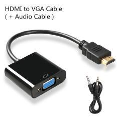 HDMI Ke Kabel VGA, Digital Ke Analog Audio Converter, HDMI Converter Adapter Video Kabel untuk PC Laptop PS3 TV BOX (+ Kabel Audio)