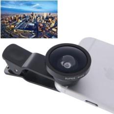 Dia-22 Universal Super Lebar 0.4X Lensa dengan Klip, untuk iPhone, Galaksi, Sony, Lenovo, HTC, Huawei, Google, LG, Xiaomi dan Ponsel Pintar Lain (Hitam)-Internasional