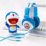 Jual Headphone Headset Karakter Doraemon Mobile Stereo Headset 2608 Import
