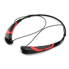 Headphone Bluetooth Nirkabel Baru Headset Stereo Olahraga untuk iPhone Samsung Ponsel LG Xiaomi Fashion Earbuds (Merah) - intl