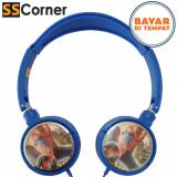 Ongkos Kirim Headphone Multimedia Karakter Super Hero Spider Super Bass Kt3155 Blue Di North Sumatra