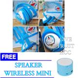 Harga Headphone Stereo Karakter Doraemon Hello Kitty Bando Free Speaker Bluetooth Online Indonesia