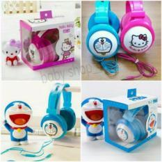 Spesifikasi Headset Bando Karakter Bass Super Quality Doraemon Hello Kitty Minnion Lengkap Dengan Harga