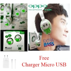 Headset Bando Super Bass OP-R900 for Oppo F1 + Free Charger Micro USB