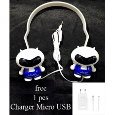 Headset BAndo Super Bass Vo-X900 For Vivo X9 Plus + Charger Usb