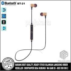 Beli Headset Bluetooth Bt 21 Wireless Smart Sport Stereo Earphones Gold