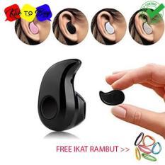 Headset Bluetooth Mini S530 untuk handphone - Hitam 1 pcs + Ikat Rambut Klik to Buy 1 Pcs