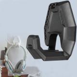 Spesifikasi Tampilan Headset And Headphone Gantungan Dinding Stan Permainan Telepon Kepala Penyelenggara Dudukan Rak Hitam Internasional