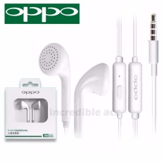 Headset Oppo A37 Handsfree Earphone Headset OPPO MH133  3.5mm Jack In-Ear Music Earphone - Putih