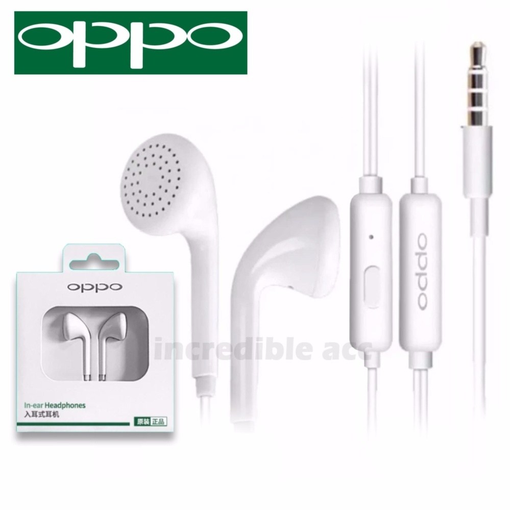 Headset Oppo R7s Plus Handsfree Earphone Headset OPPO MH133 HD Audio 3.5mm Jack In-Ear Music Earphone - Putih