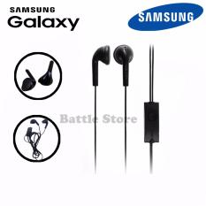 Headset Samsung Compatible for Samsung All Type Handsfree Stereo Bass Audio High Qualty Universal Jack A/V 3.5mm - Hitam