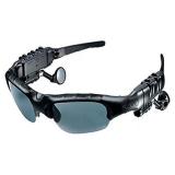Jual Kacamata Lewat Headset Mp3 Player Dengan Bluetooth Kacamata Matahari Hitam Oem Murah