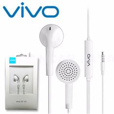 Headset VIVO XE100 headset Hendsfree Hetset Jack 3.5mm  High Quality Audio - Putih