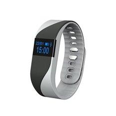 Denyut Jantung Gelang Pintar Gelang. Bluetooth IP54 WaterproofSports Aktivitas Intelijen Tidur Monitor Pedometer Kebugaran Pelacak Jam Tangan Pintar untuk IOS dan Android (Hitam)-Intl