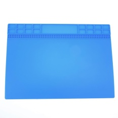 Panas Isolasi Silikon Pemeliharaan Perbaikan Elektronik Meja Platform Pad (Biru)-Intl(Blue Alcatel POP 7 LTE)