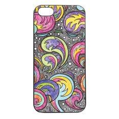 Heavencase Batik Paisley Pattern Rubber/Soft Case for Iphone 5 & 5s Case BLACK