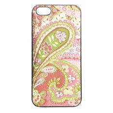 Heavencase Batik Paisley Pattern Rubber/Soft Case for Iphone 5 & 5s Case  - Hitam