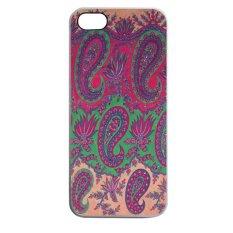 Heavencase Batik Paisley Pattern Rubber/Soft Case for Iphone 5 & 5s Case WHITE