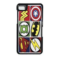 Heavencase Blackberry Z10 Hard Case Superhero Logo - Hitam